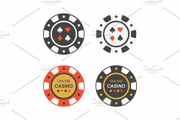 Casino Chips Top View