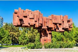 El Kutu, a monument to famous Kyrgys personalities, in Bishkek