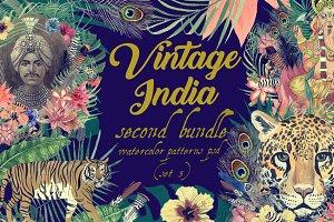 Vintage India 2. Pattens psd. Set 3.