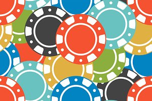 Casino Chips pattern
