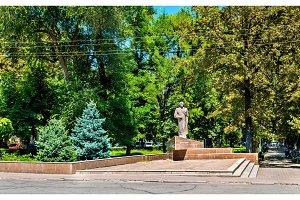 Statue of Jumabek Ibraimov in Bishkek, Kyrgyzstan