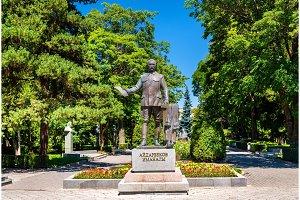 Statue of Imanaly Aidarbekov in Bishkek, Kyrgyzstan