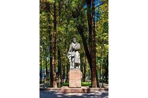 Statue of Temirkul Umetaliev in Bishkek, Kyrgyzstan