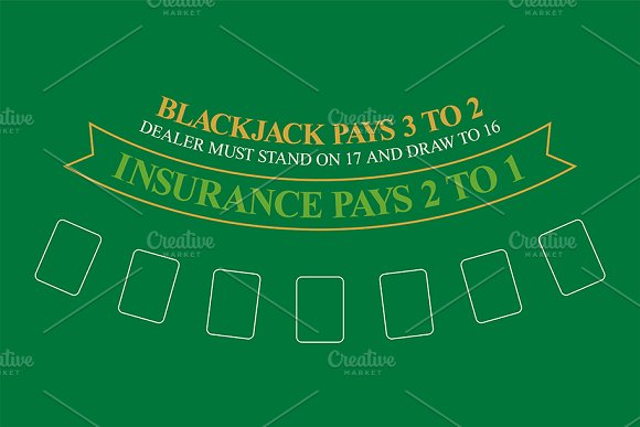 Blackjack Table Top View