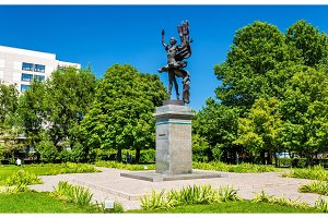 Monument to Bubusara Beyshenalieva, the first great Kyrgyz ballerina. Bishkek, Kyrgyzstan