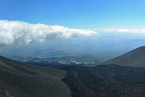Congealed lava stream