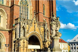 Statue of Our Lady at Wroclaw Cathedral - Poland
