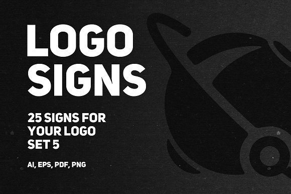 Set 5 25 Signs For Your Logo