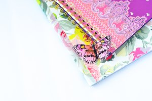 Pink Butterfly and Journals 2