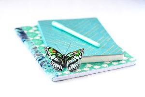 Blue Butterfly and Journals