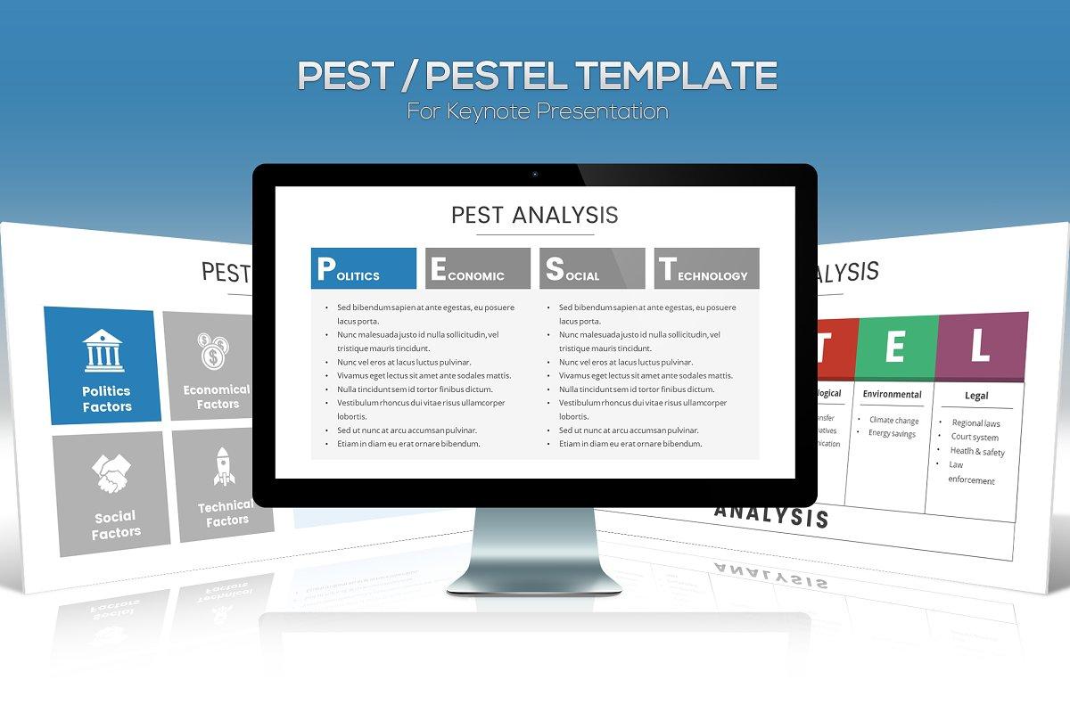 PESTEL Diagram Template for Keynote