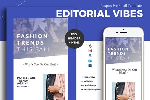 Editorial Email Template (psd + html