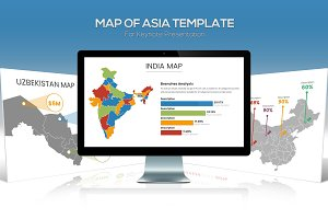 Asia Maps for Keynote Presentation