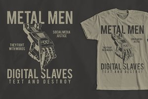 Metal Men T-Shirt Design