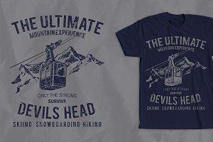 Mountain Experience Tshirt Design