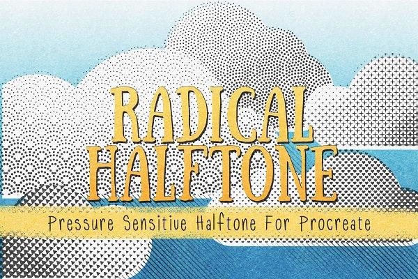 Photoshop Brushes: UPROOT - Radical Halftones for Procreate
