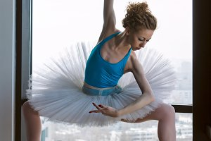 Ballerina in ballet tutu and pointe