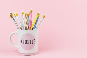 Stock Photo - Pencils in Hustle Mug