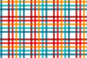 Colorful tartan on white pattern