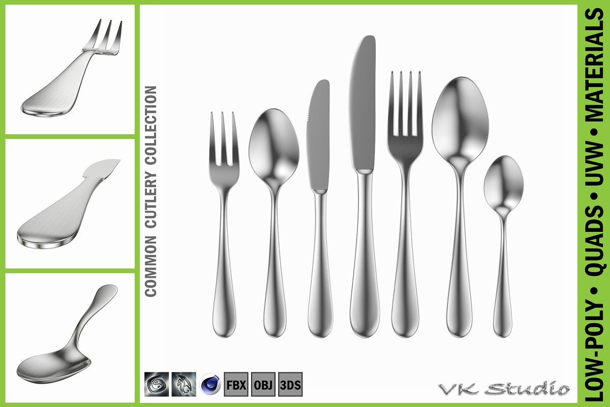 Common Cutlery Set 7 Pieces ~ Appliance Models ~ Creative Market