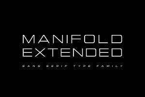 Manifold Extended CF wide sans serif