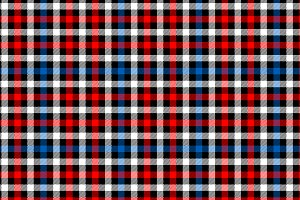 Black tartan fabric seamless pattern