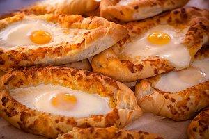 freshly baked khachapuri