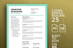 Resume Template 25