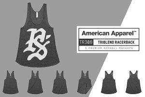 American Apparel TR308 Tri Racerback