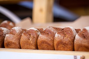 fresh  black bread