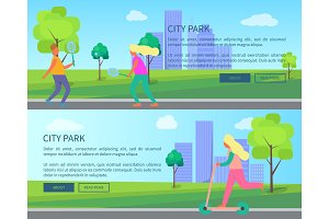 City Park Collection of Creative Posters with text