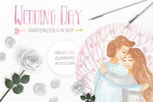Wedding Watercolor Bundle