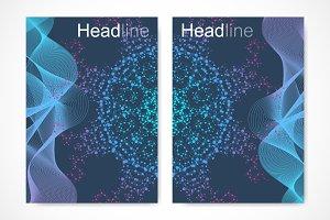 Scientific brochure design template
