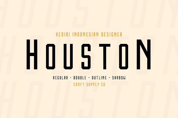 Sans Serif Fonts: Craft Supply Co. - Houston Font Family