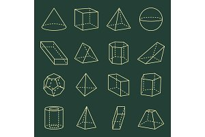 Geometric Shapes Collection 3D Vector Illustration