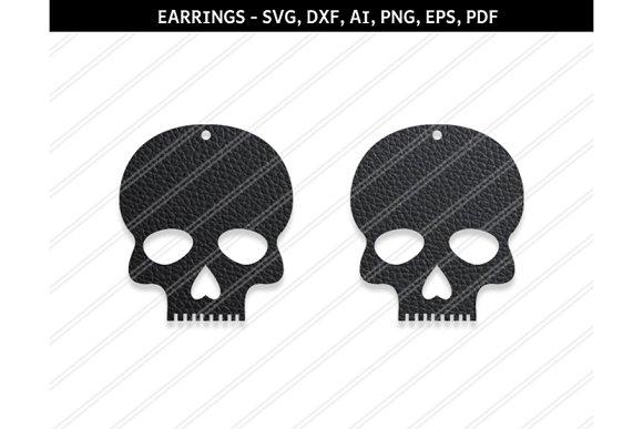 Skull Earrings Svg Dxf Ai Eps Png