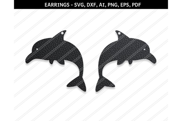 Dolphin Earrings Svg Dxf Ai Eps Png