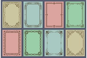 Vintage Postcards with Elegant Frames Templates