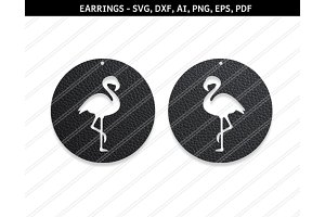 Flmingo earrings svg,dxf,ai,eps,png
