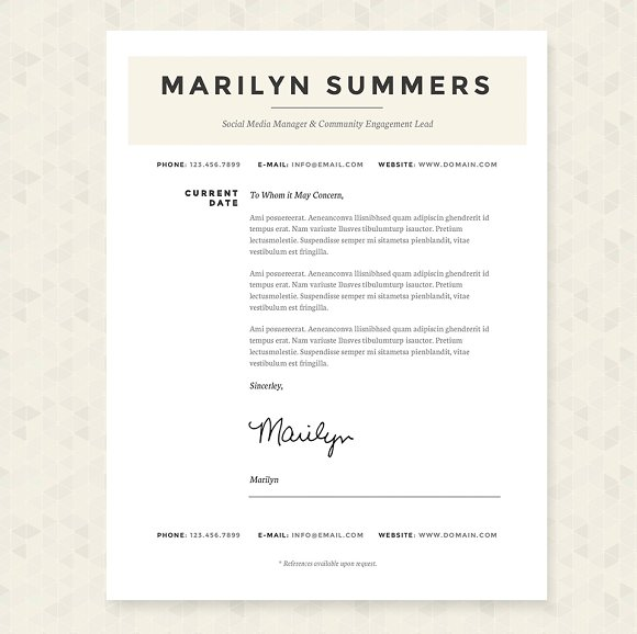 Classic Resume Template Package Creative Daddy