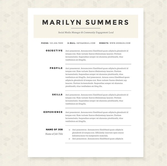 executive classic resume sample simple template package resumes format