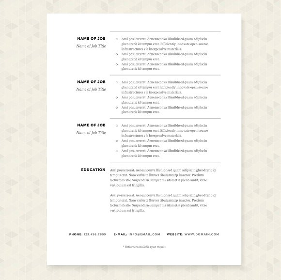 Classic Resume Template. Find This Pin And More On Classic Resume ...