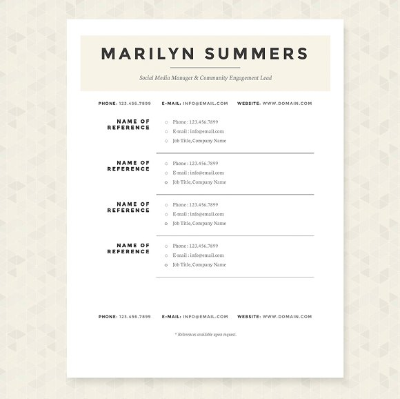 classic resume template package resume templates creative market - Classic Resume Template