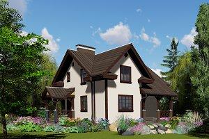 3D visualization. House.