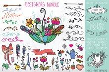 Doodle Handsketched elements.Set 1