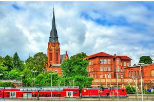 View of St. Lorenz Church in Lubeck, Germany