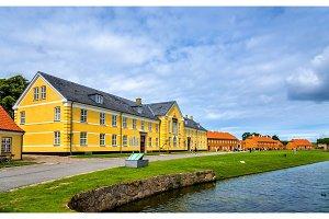 Houses at Kronborg Castle in Elsinore, Denmark