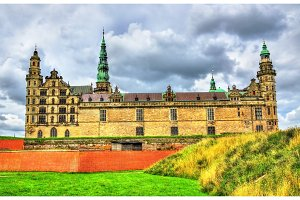 Kronborg Castle, known as Elsinore in the Tragedy of Hamlet - Denmark