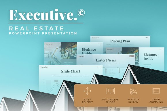 executive real estate presentation presentation templates