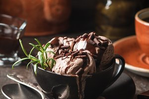 Chocolate coffee ice cream